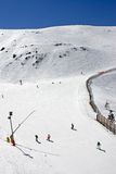 Ski slopes of Prodollano ski resort in Spain Stock Photos