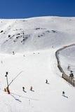 Ski slopes of Prodollano ski resort in Spain Stock Photos