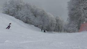 Ski slopes in Rosa Khutor Alpine Resort stock video footage