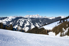 Ski slopes on Schmitten, next to Zell Am See resort Stock Photography