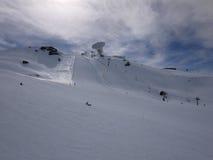 Ski slopes in the sierra nevada mountains Stock Photo