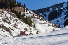 Ski slopes and snowcat Royalty Free Stock Photo