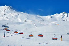 Ski slopes Solden Stock Photo