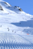 Ski slopes in spain. With the detail of the tracks Stock Images