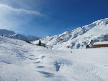Ski slopes on sunny day Stock Image