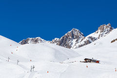 Ski slopes, Tignes France Stock Images