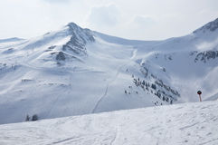 Ski slopes in Tirol Royalty Free Stock Image