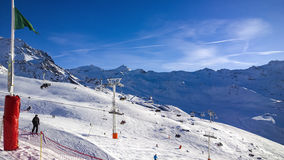 Ski slopes Royalty Free Stock Images