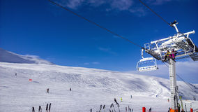 Ski slopes Stock Images