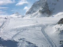 Ski slopes at Zermatt royalty free stock photography