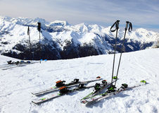 Ski on snow Stock Images