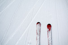 Ski and snow background Stock Photography