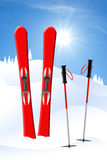 Ski in the snow Royalty Free Stock Photo