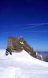 Ski snow mountains park Titlis vertical Royalty Free Stock Photo