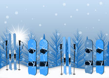 Ski and snowboard background Royalty Free Stock Photos