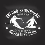 Ski and Snowboard Club. Vector illustration. Ski and Snowboard Club. Vector. Concept for shirt, print, stamp, badge or tee. Vintage typography design with Royalty Free Stock Photo