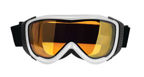 Ski or snowboard goggle. Front view of ski or snowboard goggle isolated on white background royalty free stock photography