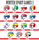 Ski snowboard helmets goggles icons Stock Image