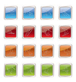 Ski and snowboard icons. Icon set Stock Images