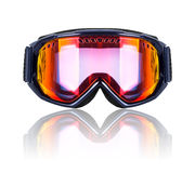 Ski and snowboard mask closeup isolated on white Stock Images
