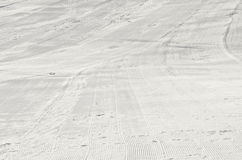 Ski and snowboard slope. Morning fresh ski and snowboard slope, before ski Royalty Free Stock Photography