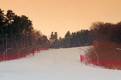 Ski and snowboard track Stock Image