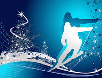 Ski sport background Stock Photo