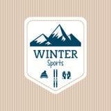 Ski sport design, vector illustration Stock Photos