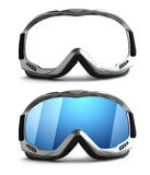 Ski sport glass Stock Photo
