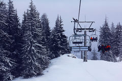 Ski sport lift Royalty Free Stock Images