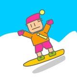 Ski Sport men. Sport men in Japanese style Stock Images