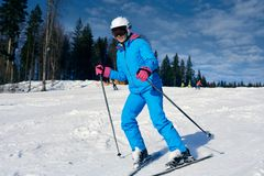 Ski sportif de femme photos libres de droits