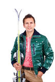 Ski sports man Royalty Free Stock Image
