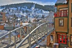 ski stad Stock Afbeeldingen