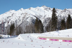 Ski stadium in Sochi Stock Images
