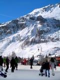 Ski station Royalty Free Stock Image