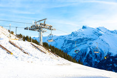 Ski Station on mount over Engelberg on the Swiss alps Stock Photography