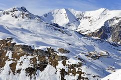 Ski station near Hintertux Glacier Stock Photo