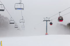 Ski station in Polish mountain. Stock Images