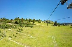 Ski station in summer Royalty Free Stock Photo