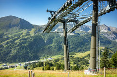 Ski station in summer Royalty Free Stock Photo