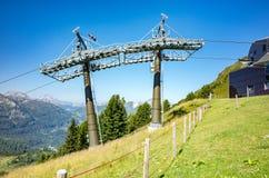 Ski station in summer Stock Photo