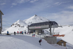 Ski station in the Swiss Alps Royalty Free Stock Photography
