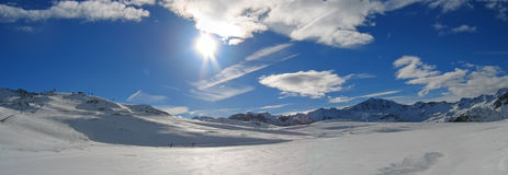 Ski station of Tignes. The french Alps - France Royalty Free Stock Photography