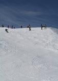 Ski-Steigung. Lizenzfreies Stockfoto