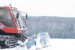Ski-Steigung-Pflegentraktor Lizenzfreies Stockfoto