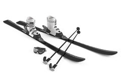 Ski, sticks, mask items isolated Royalty Free Stock Photography