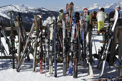 Ski Storage Stock Photography