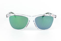 Ski sunglasses, transparent frame mirror lens Stock Image