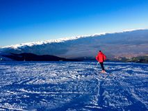 Ski sur la haute montagne Photos libres de droits